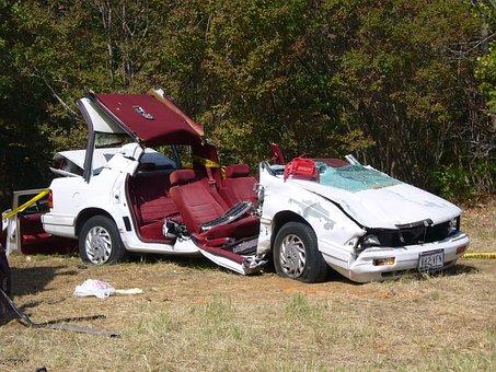 Car, Crash, White, Vehicle, Transportation, Accident