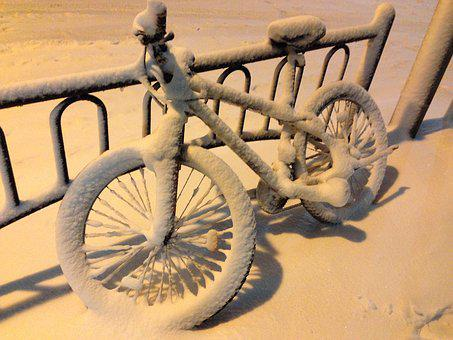 Winter, Snow, Bike