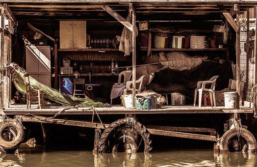 Fisherman's Hut, Wooden, Makeshift, Rough