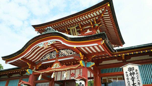 Yamaguchi, Hofu Tenmangu, Shrine