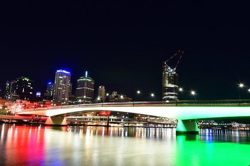 Brisbane, Bridge, Aust, Australia, Queensland