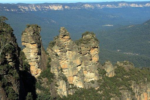Rock, Australia, Three Sisters, Blue Mountains