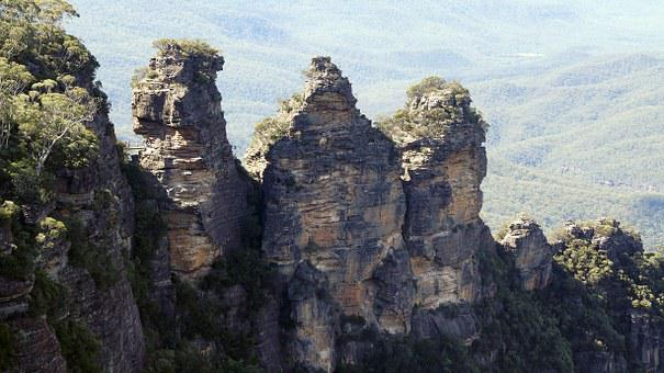 Three, Sisters, Australia, Sydney, Nature, Landscape