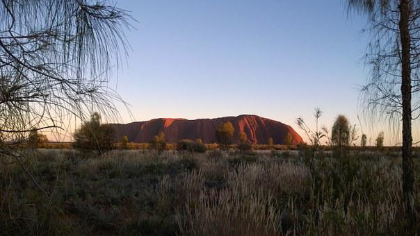 Australia, Uluru, Ayers Rock, Ayers Rock In Winter