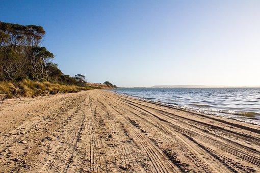 Kangaroo Island, Sand, Be, Beach, Australia, Coast