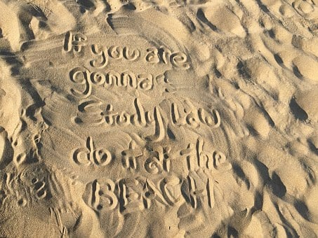 Beach, Sand, Words, Writing, Moto, Quote, Study, Learn