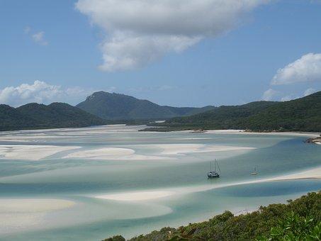 Whitsundays - Australia, Sea, Ocean, Blue, Water, Beach