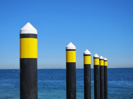 Ocean, Australia, Water, Blue Sky, Posts