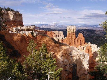 Bryce Canyon, Utah, Usa, Tourist Attraction, Pinnacles