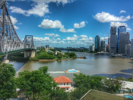 Brisbane, Queensland, Australia, River, Panorama, City
