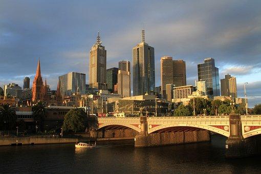 Melbourne, Australia, Urban, City, Cityscape