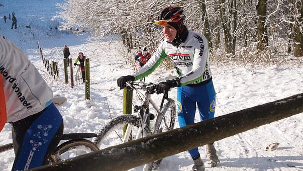 Snow, Racing Bikes, Cold, Hill, Winter, Climbing