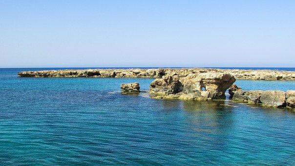 Cyprus, Protaras, Rock Formations, Coast, Rocky Coast