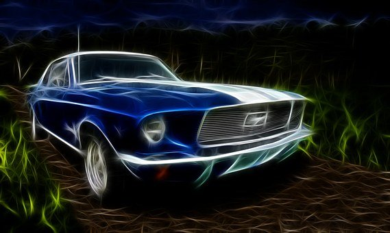 Ford Mustang, Ford, Auto, 1967, 1960s Style