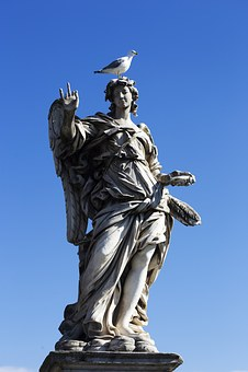 Rome, The Vatican, Holy Angel Castle, Sculpture