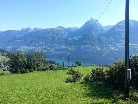 Amden, Lake Walen, Mürtschenstock, Switzerland
