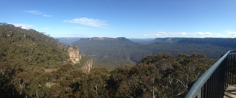 Blue Mountains, Three Sisters, Valley, Landscape