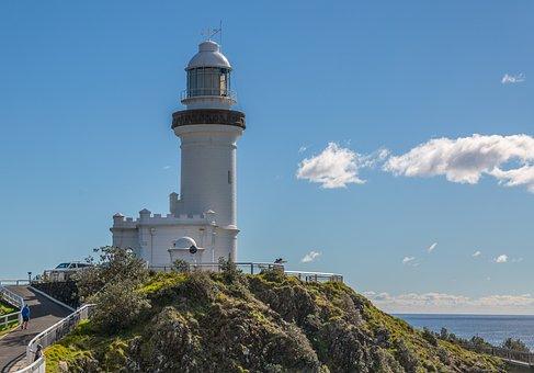 Lighthouse, Coastline, Navigation, Landmark, Beacon