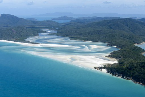 Whitsunday Island, Great Barrier Reef, Ocean, Blue