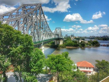 Brisbane, Queensland, Australia, Storey Bridge, River