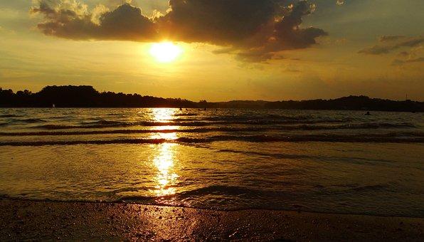 Sunset, Bet Shemesh, Brazil, Mar, Orange Sky