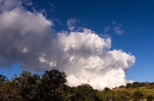 Cumulus Nimbus, Cloud, White, Large, Blue, Dramatic