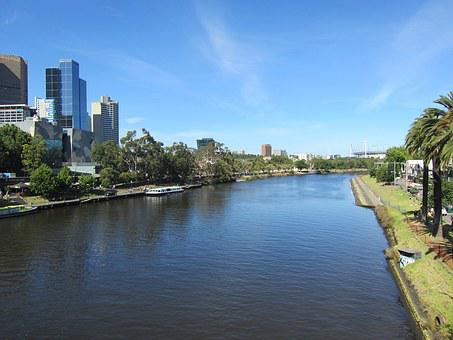 Melbourne, River, Australia, Yarra, City, Skyline