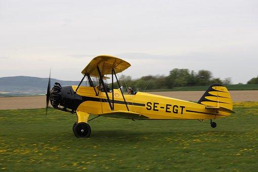 Swedish, Focke-wulf Stieglitz, Airplane, Plane, Clouds