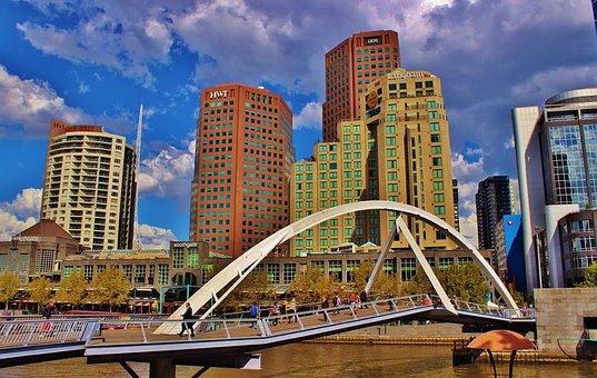 Melbourne, Australia, Buildings, Skyline, Cityscape