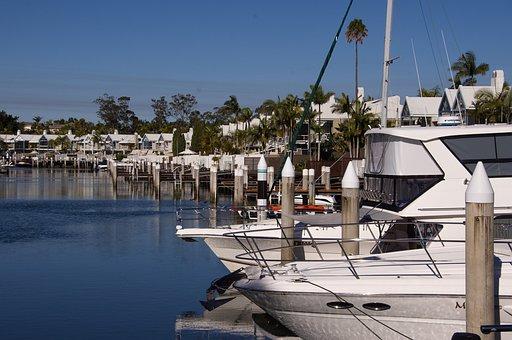 Marina, Harbour, Boats, Cruisers, Water, Mooring