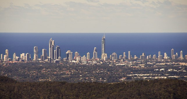 Gold Coast City, Coast, Ocean, Pacific, Skyscrapers