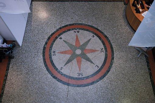 Compass, Points Of The Compass, Estrazzo, Floor