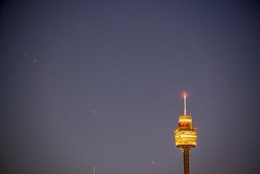 Sydney, Australia, Centrepoint Tower, Stars, Dawn