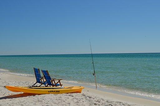 Beach, Ocean, Surf, Fishing, Kayak, Panama City Beach