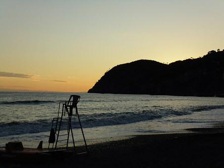 Levanto, Liguria, Italy, Beach, Upstream, Sea