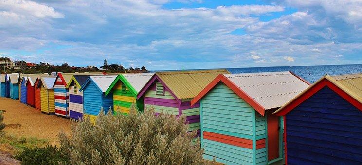 Beaches, Houses, Huts, Coastal, Lands, Living, Homes