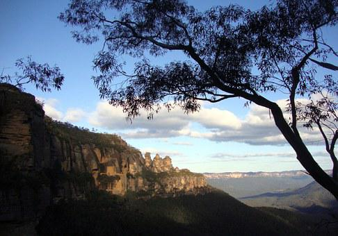 Blue Mountains, Three Sisters, Mountains, Blue, Scenic