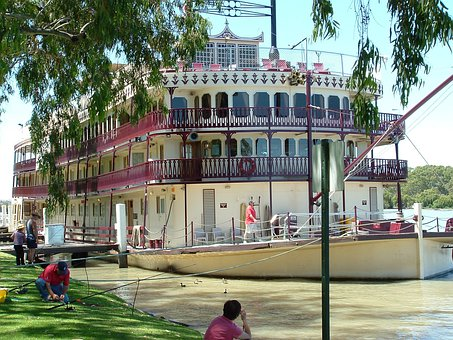 Paddle Steamer, Paddle, Boat, River, Travel, Australia