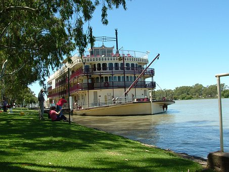 Paddle Steamer, Paddle, Boat, Ship, River, Travel