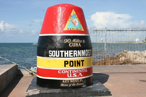 Key West, Southernmost Point, Usa, Florida, Pier