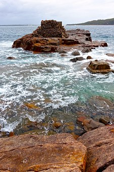 Fort Tomaree, Nelson Bay, Australia, Rocky, View, Relax