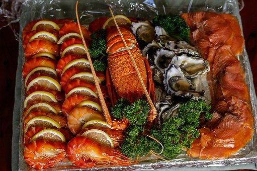Sea Food, Prawns, Smoked Salmon, Oysters, Cray Fish