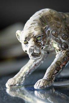 Animal, Panther, Deka Ration Piece, Silver, Silberig