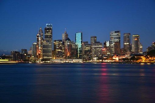 Sydney, Harbour, Harbor, Skyline, Cityscape, Water