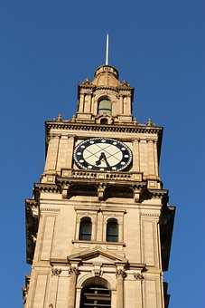 Clock, Tower, Architecture, Australia, Melbourne
