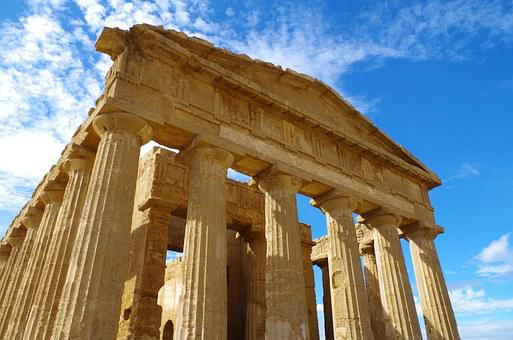 Agrigento, Valley Of The Temples, Zeus, Temple