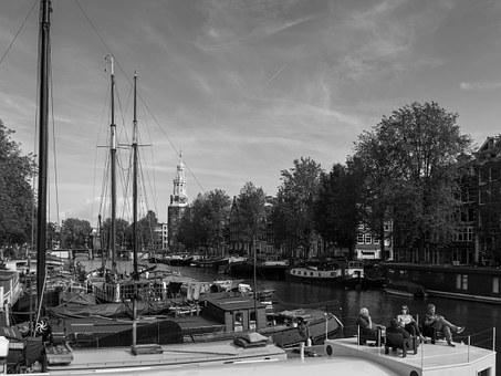Amsterdam, Netherlands, Water, River, Relaxation