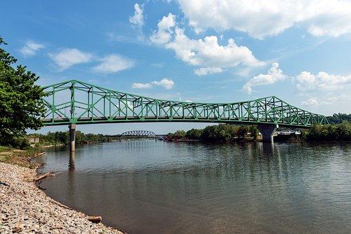 West Virginia, Bridge, Point Pleasant, River, Water