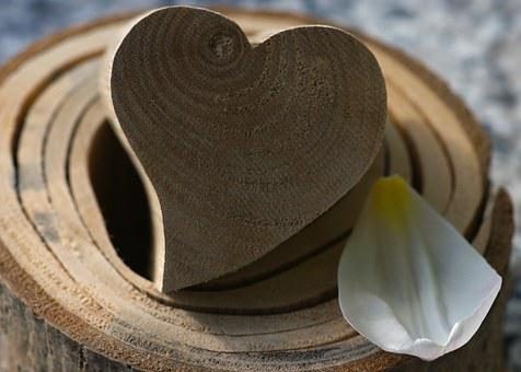 Heart, Wood, Wooden Structure, Heart In The Wood, Grain