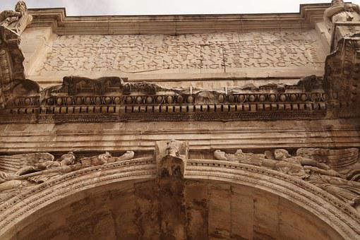 Arch Of Constantine, Written, Roman Holiday
